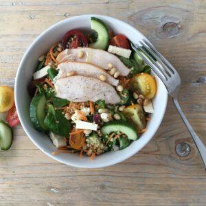 Couscous salade gerookte kip