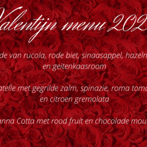 Valentijn menu 2021